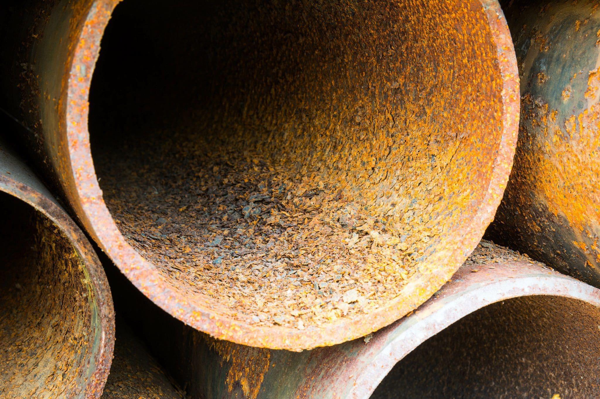 pipes sit unused die to internal pipeline corrosion